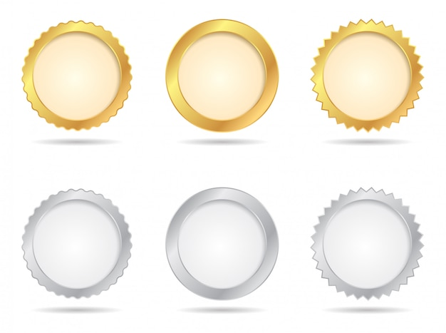 Gold- und silbersiegel-sets