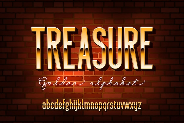 Gold verdichtetes modernes alphabet. ohne serifenmetallschrift. technologie typografie goldene buchstaben.