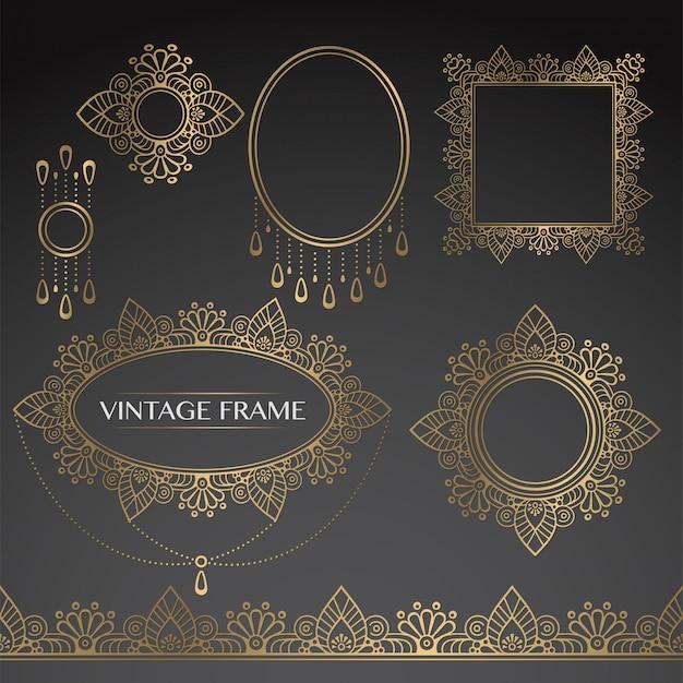 Gold vintage-rahmen
