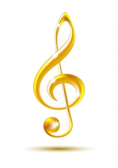 Gold violinschlüssel