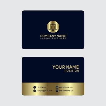 Gold visitenkarte design-vorlage