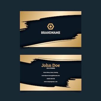 Gold visitenkartenvorlage