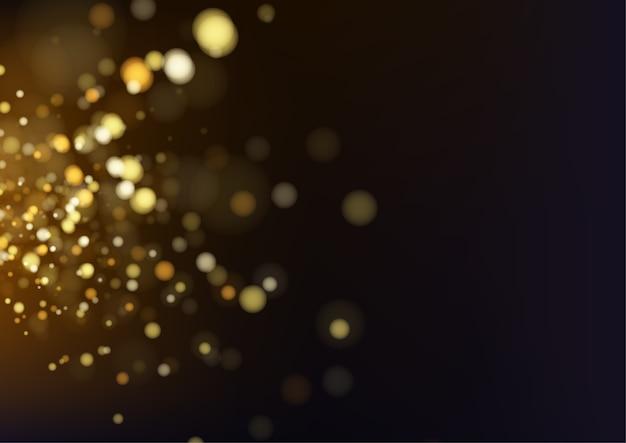 Goldabstrakter bokeh hintergrund