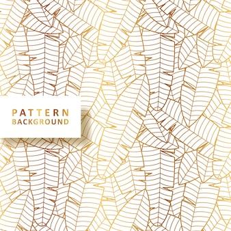 Goldbananenblatt-musterhintergrund