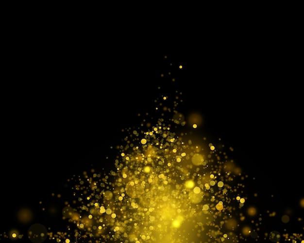 Goldbokeh abstrakter festlicher hintergrund