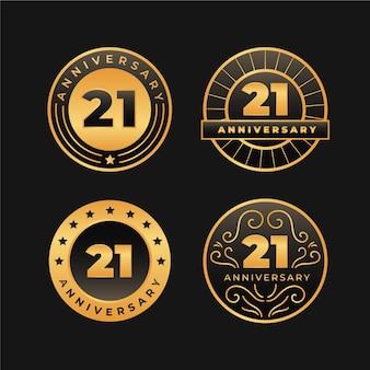Golden 21 jubiläum abzeichen sammlung