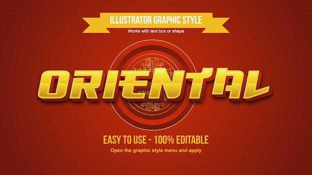 Golden 3d metallic bold oriental bearbeitbarer texteffekt
