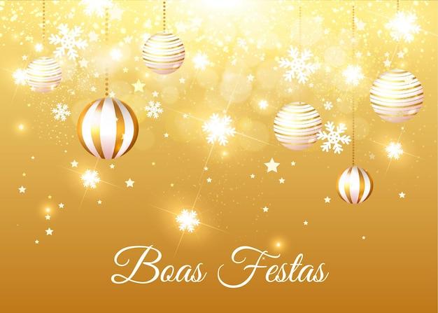 Golden boas festas konzept