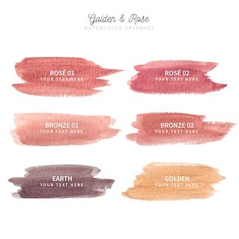 Golden, bronze & rosé aquarell splash-kollektion