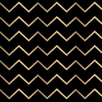 Golden Chevron nahtlose Muster