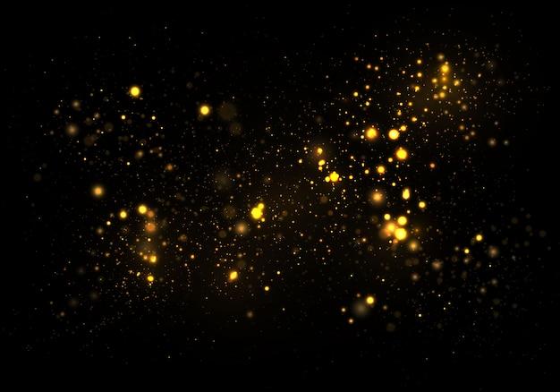 Golden funkelnde bokeh lichter