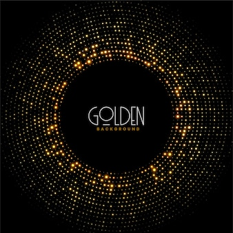 Golden funkelt glitzerrahmenhintergrund