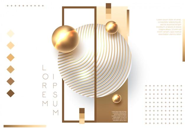 Golden glänzende perle