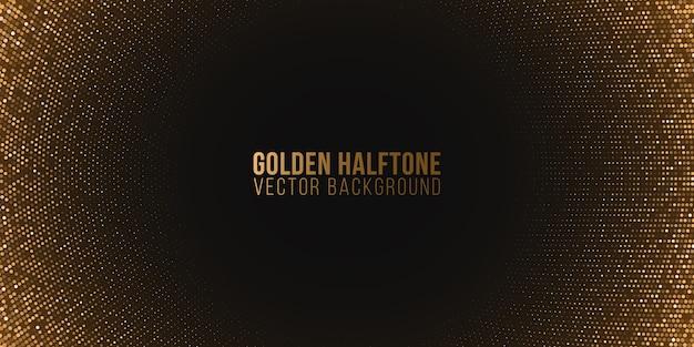 Golden glitzernder luxus-halbton-effekt. festlicher hintergrund. funkelnde punkte.