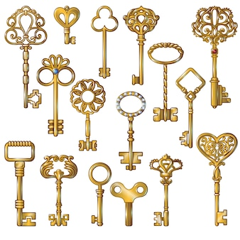 Golden keys set