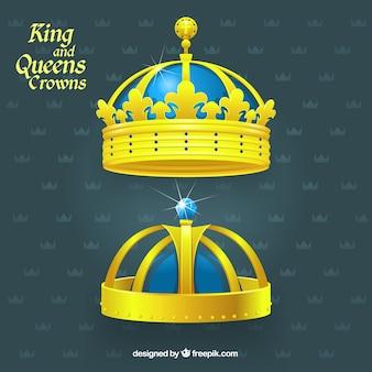 Golden king ein queen kronen