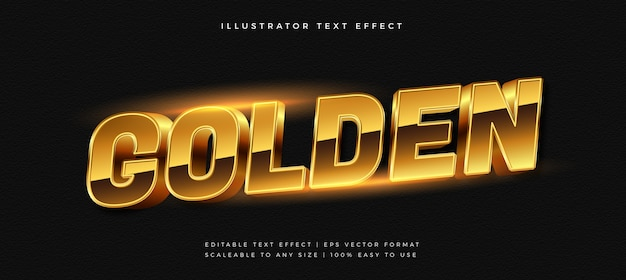 Golden luxury shiny text style schriftart-effekt