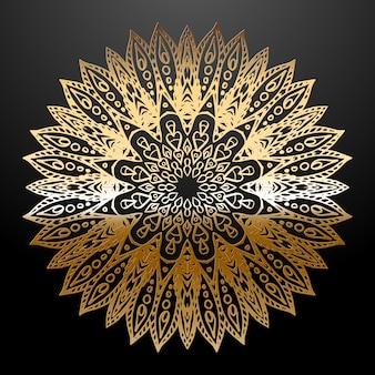 Golden mandala ethnische verzierung.
