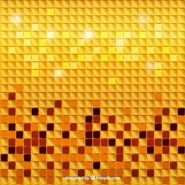 Golden mosaik hintergrund