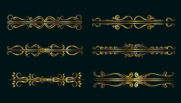 Golden ornament collection premium