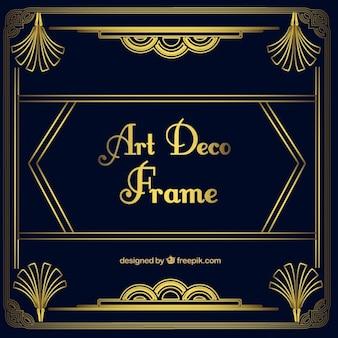 Golden ornamentalen rahmen in art deco-stil