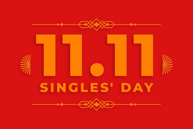 Golden singles day konzept