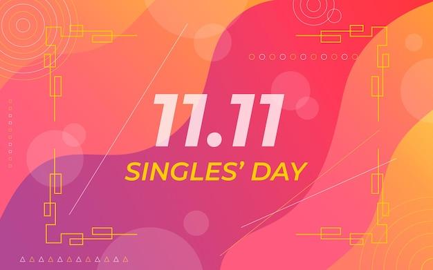 Golden singles day konzept