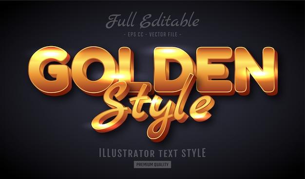 Golden text style effekt premium