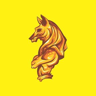 Goldene anubis