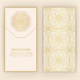 Goldene arabische einladungsschablone