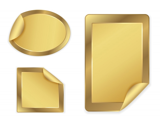 Goldene aufkleber eingestellt