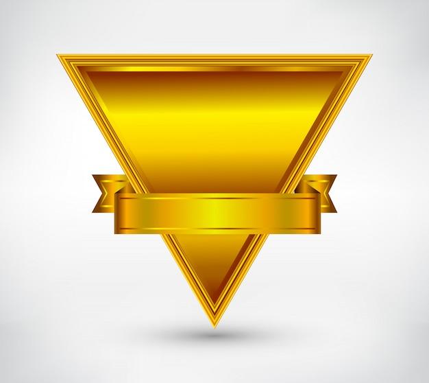 Goldene ausweisvorlage