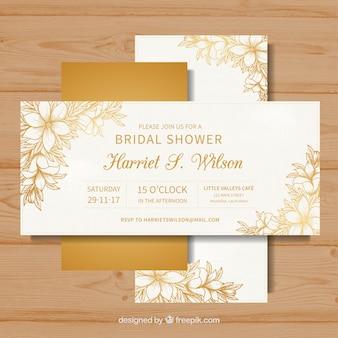 Goldene bachelorette Karten