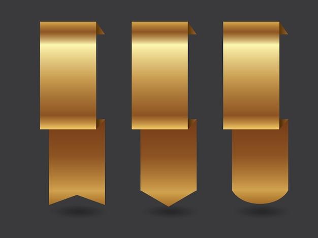 Goldene bänder packen