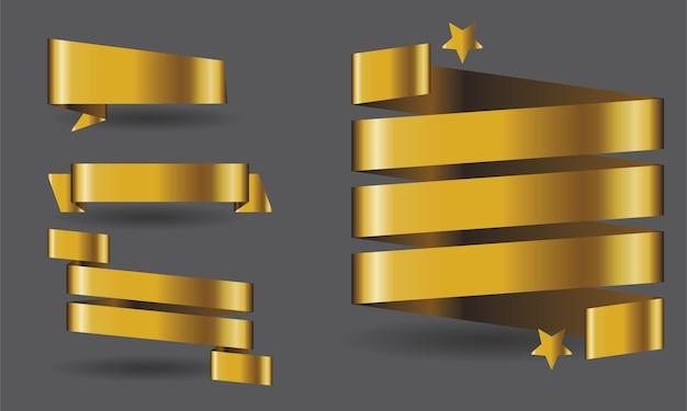 Goldene bänder und sternpackung