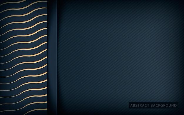 Goldene beschaffenheitsüberlappungsschichten auf dunklem hintergrund