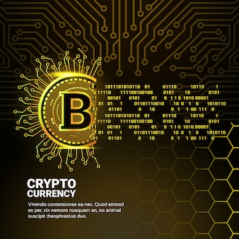 Goldene bitcoin-digitalwährung