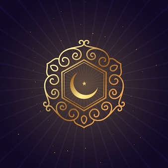 Goldene blumenart ramadan festival symbol