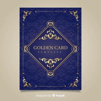 Goldene blumenkarten
