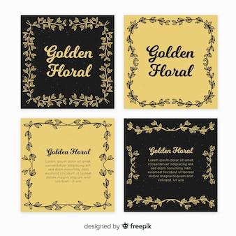 Goldene Blumenkartensammlung