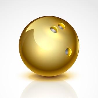 Goldene bowlingkugel.