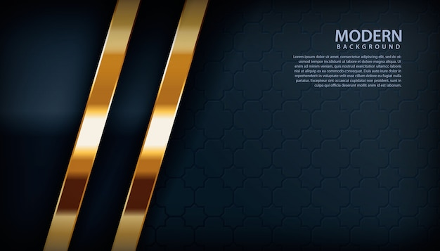 Goldene dekoration auf schwarzem hintergrund