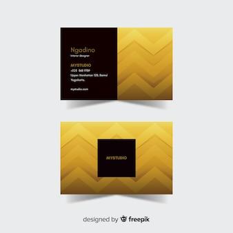 Goldene details der visitenkarteschablone
