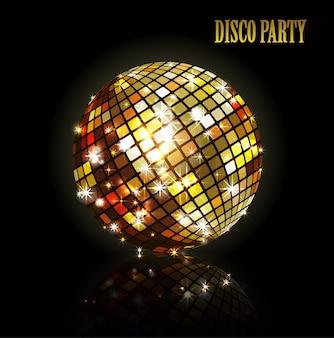 Goldene discokugel.