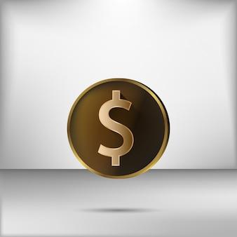 Goldene dollar-münze