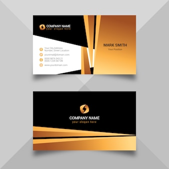 Goldene dunkle visitenkarteschablone