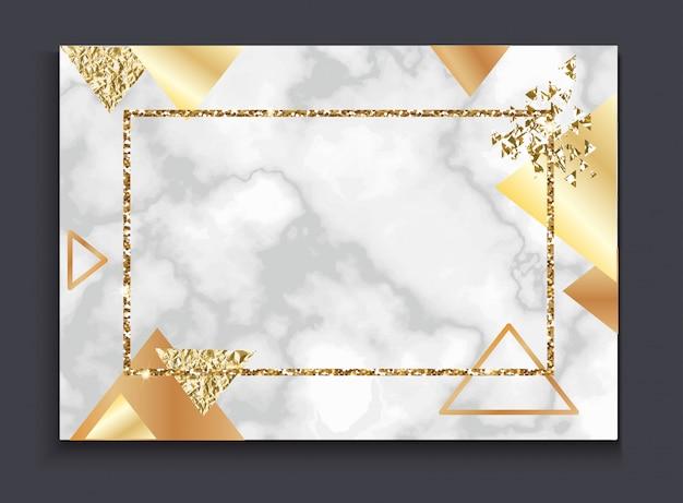 Goldene einladung oder broschüre