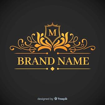 Goldene elegante korporative logoschablone
