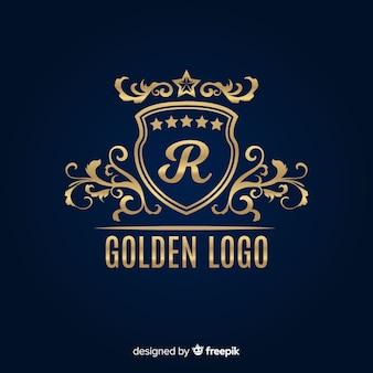 Goldene elegante logo-vorlage