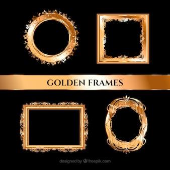 Goldene elegante realistischen rahmen